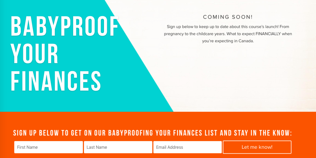 Baby proof your finances